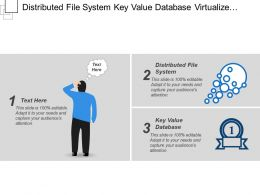 Distributed File System Key Value Database Virtualize Windows Server