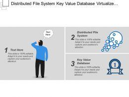 Distributed File System Key Value Database Virtualize Windows Server
