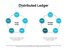 Distributed Ledger Marketing Management Ppt Powerpoint Presentation Show Design Ideas