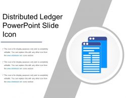 Distributed Ledger Powerpoint Slide Icon