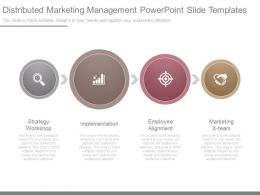Distributed Marketing Management Powerpoint Slide Templates