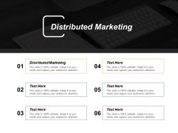 Distributed Marketing Ppt Powerpoint Presentation Infographics Inspiration Cpb