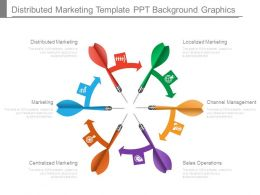 Distributed Marketing Template Ppt Background Graphics