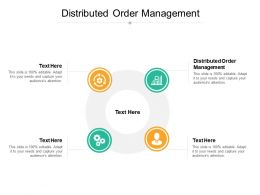 Distributed Order Management Ppt Powerpoint Presentation Outline Format Cpb