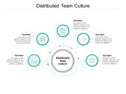 Distributed Team Culture Ppt Powerpoint Presentation Pictures Layout Ideas Cpb