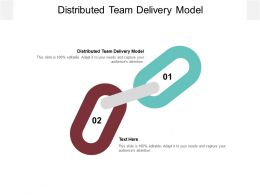 Distributed Team Delivery Model Ppt Powerpoint Presentation Background Cpb