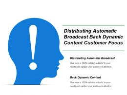 Distributing Automatic Broadcast Back Dynamic Content Customer Focus