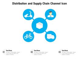 Distribution And Supply Chain Channel Icon