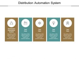 Distribution Automation System Ppt Powerpoint Presentation Slides Examples Cpb