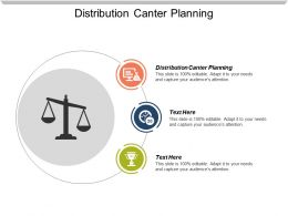 Distribution Canter Planning Ppt Powerpoint Presentation Gallery Influencers Cpb