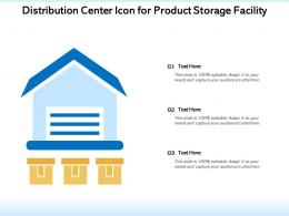 Distribution Center Icon For Product Storage Facility