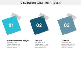 Distribution Channel Analysis Ppt Powerpoint Presentation File Graphics Template Cpb