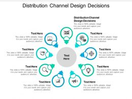 Distribution Channel Design Decisions Ppt Powerpoint Presentation Gallery Slideshow Cpb