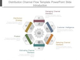 Distribution Channel Flow Template Powerpoint Slide Introduction