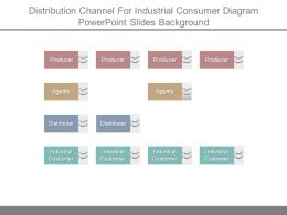 Distribution Channel For Industrial Consumer Diagram Powerpoint Slides Background