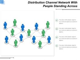 Distribution Channel Network With People Standing Across