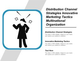 Distribution Channel Strategies Innovative Marketing Tactics Multinational Organization Cpb