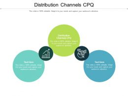 Distribution Channels CPQ Ppt Powerpoint Presentation Outline Vector Cpb