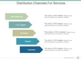 Distribution Channels For Services Powerpoint Slide Backgrounds