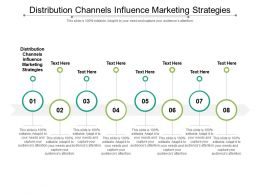 Distribution Channels Influence Marketing Strategies Ppt Powerpoint Presentation Professional Cpb