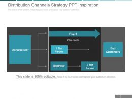 Distribution Channels Strategy Ppt Inspiration