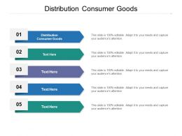 Distribution Consumer Goods Ppt Powerpoint Presentation Show Skills Cpb