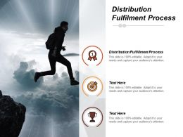 Distribution Fulfilment Process Ppt Powerpoint Presentation File Portrait Cpb