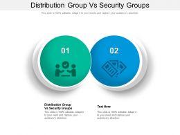 Distribution Group Vs Security Groups Ppt Powerpoint Presentation Portfolio Vector Cpb