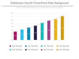 Distribution Growth Powerpoint Slide Background
