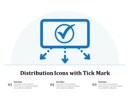 Distribution Icons With Tick Mark