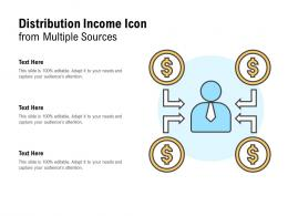 Distribution Income Icon From Multiple Sources