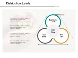 Distribution Leads Ppt Powerpoint Presentation Gallery Clipart Images Cpb