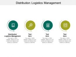 Distribution Logistics Management Ppt Powerpoint Presentation Infographic Template Inspiration Cpb