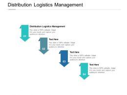 Distribution Logistics Management Ppt Powerpoint Presentation Maker Cpb