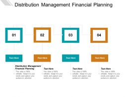 Distribution Management Financial Planning Ppt Powerpoint Presentation Summary Inspiration Cpb