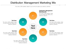Distribution Management Marketing Mix Ppt Powerpoint Presentation Outline Styles Cpb