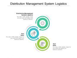 Distribution Management System Logistics Ppt Powerpoint Presentation Show Cpb