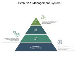 Distribution Management System Ppt Powerpoint Presentation Infographics Infographics Cpb