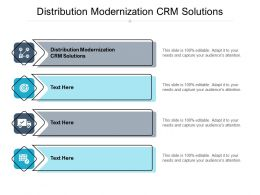 Distribution Modernization CRM Solutions Ppt Powerpoint Presentation Gallery Clipart Cpb