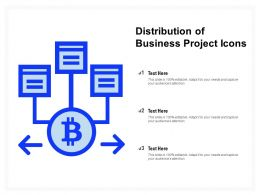 Distribution Of Business Project Icons