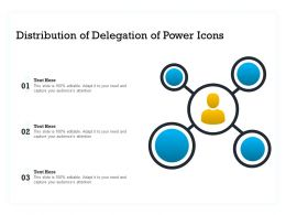 Distribution Of Delegation Of Power Icons