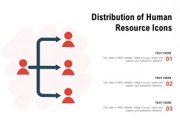 Distribution Of Human Resource Icons