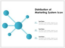 Distribution Of Marketing System Icon