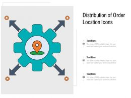 Distribution Of Order Location Icons