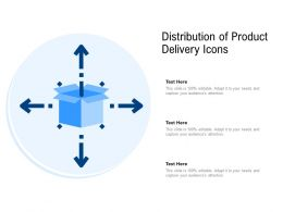 Distribution Of Product Delivery Icons