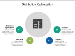 Distribution Optimization Ppt Powerpoint Presentation Gallery Visuals Cpb