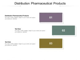Distribution Pharmaceutical Products Ppt Powerpoint Presentation File Example Topics Cpb