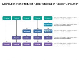 Distribution Plan Producer Agent Wholesaler Retailer Consumer