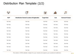 Distribution Plan Template Location Ppt Powerpoint Presentation Gallery Slide Download