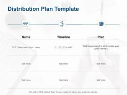 Distribution Plan Template Timeline Plan Ppt Powerpoint Presentation Gallery Example